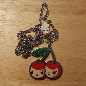tokidoki Jewelry - Retired tokidoki Twin Cherries Metal Necklace